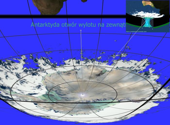 Antarktyda wylot tylko z siatką na zewnątrz a